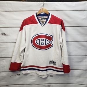 Montreal Canadiens Official Merchandise White Jersey Reebok Hockey NHL